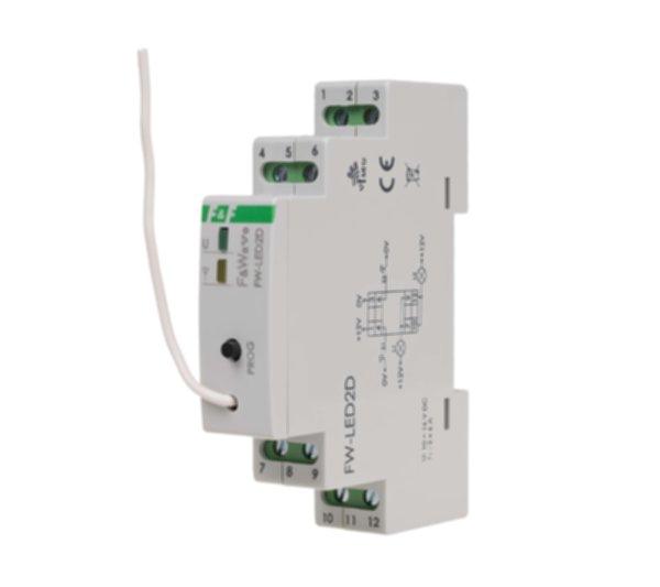 FW-LED2D Двухканальный диммер-реле, для LED ламп и LED лент, soft start, локальное и удаленное управление