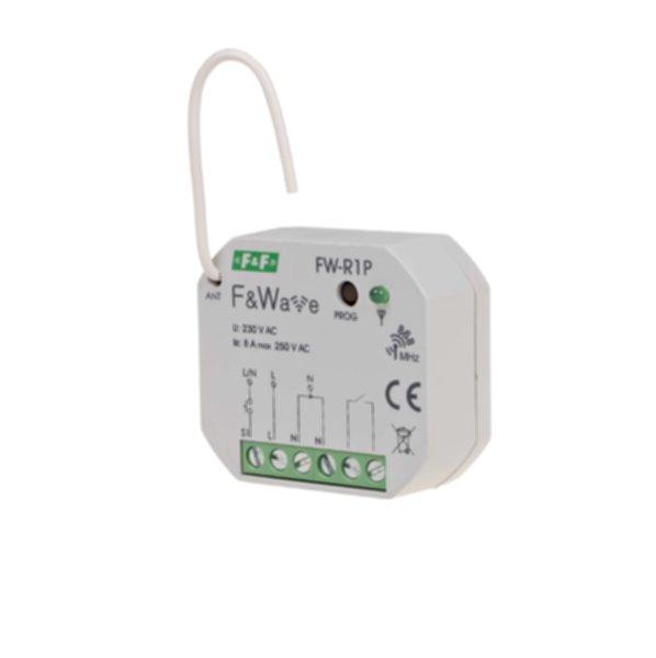 FW-R1P Одноканальное бистабильное реле, локальное и удаленное управление, до 8 радио передатчиков